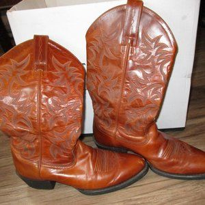 Ariat Brown Leather Western Cowboy Boots Sz 7.5